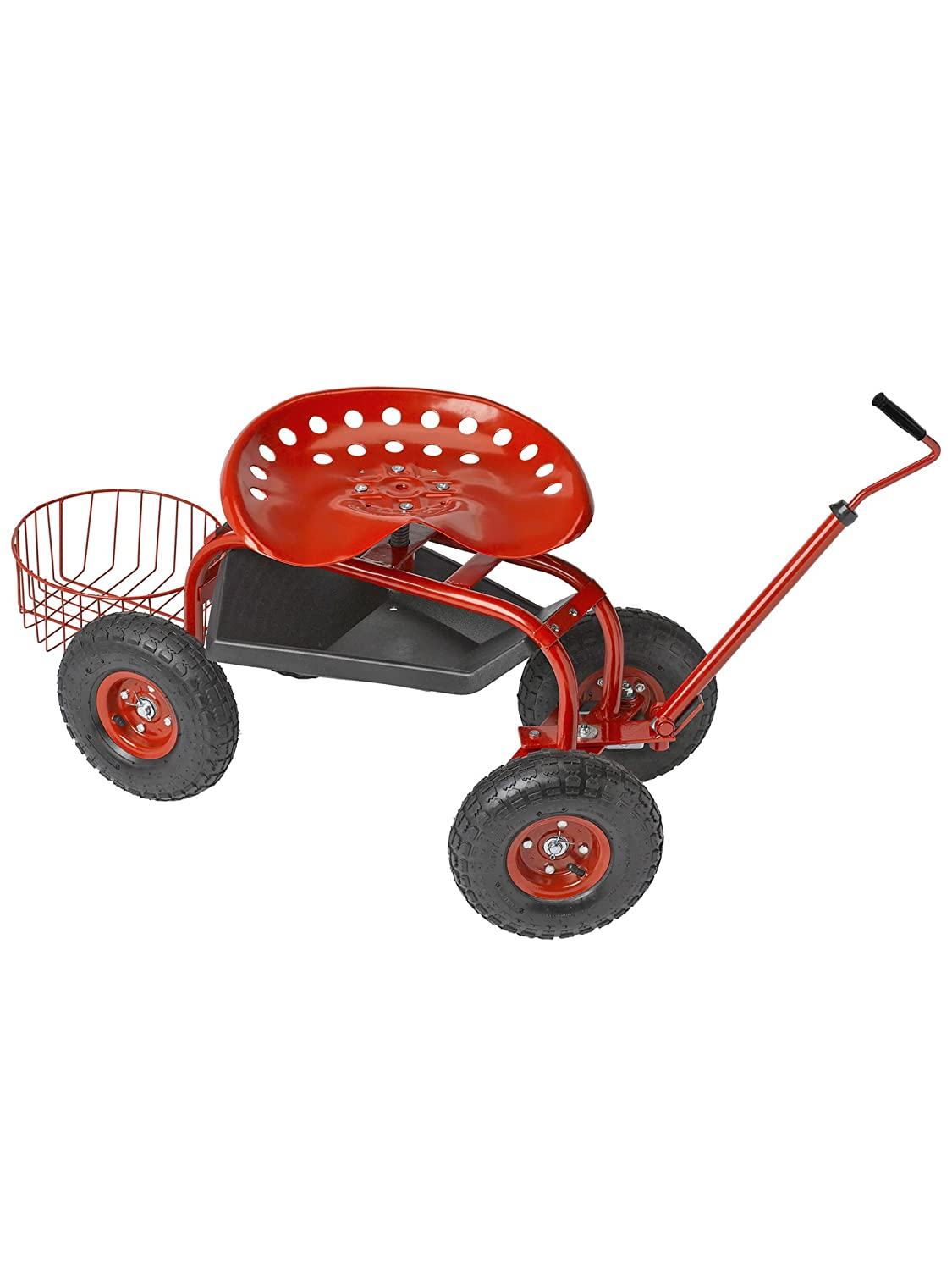 Good Amazon.com : Deluxe Tractor Scoot With Bucket Basket : Gardening Wagons :  Garden U0026 Outdoor