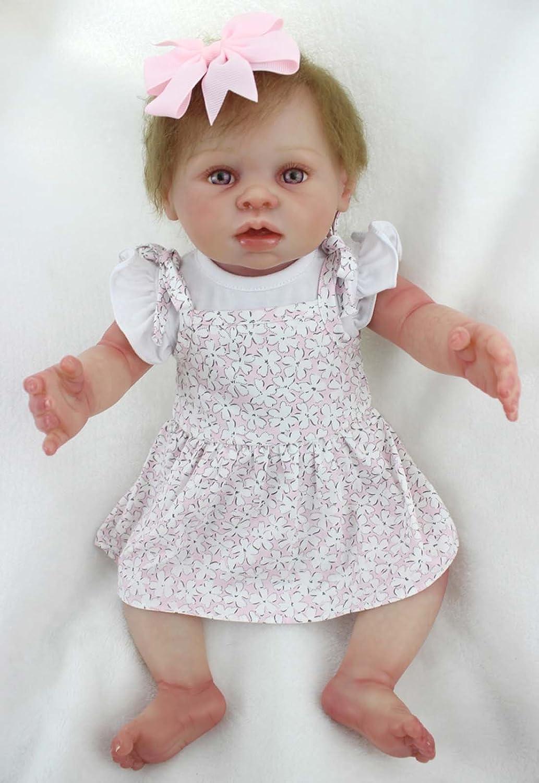 TERABITHIA 20 Zoll Realistic Wiedergeboren Baby Puppe, die Echt aussieht, Mädchen Puppe in Vinyl-Like Silikon Voller Körper Gefertigt B07FM17PS6 Babypuppen Spielzeugwelt, spielen Sie Ihre eigene Welt   Angenehmes Aussehen