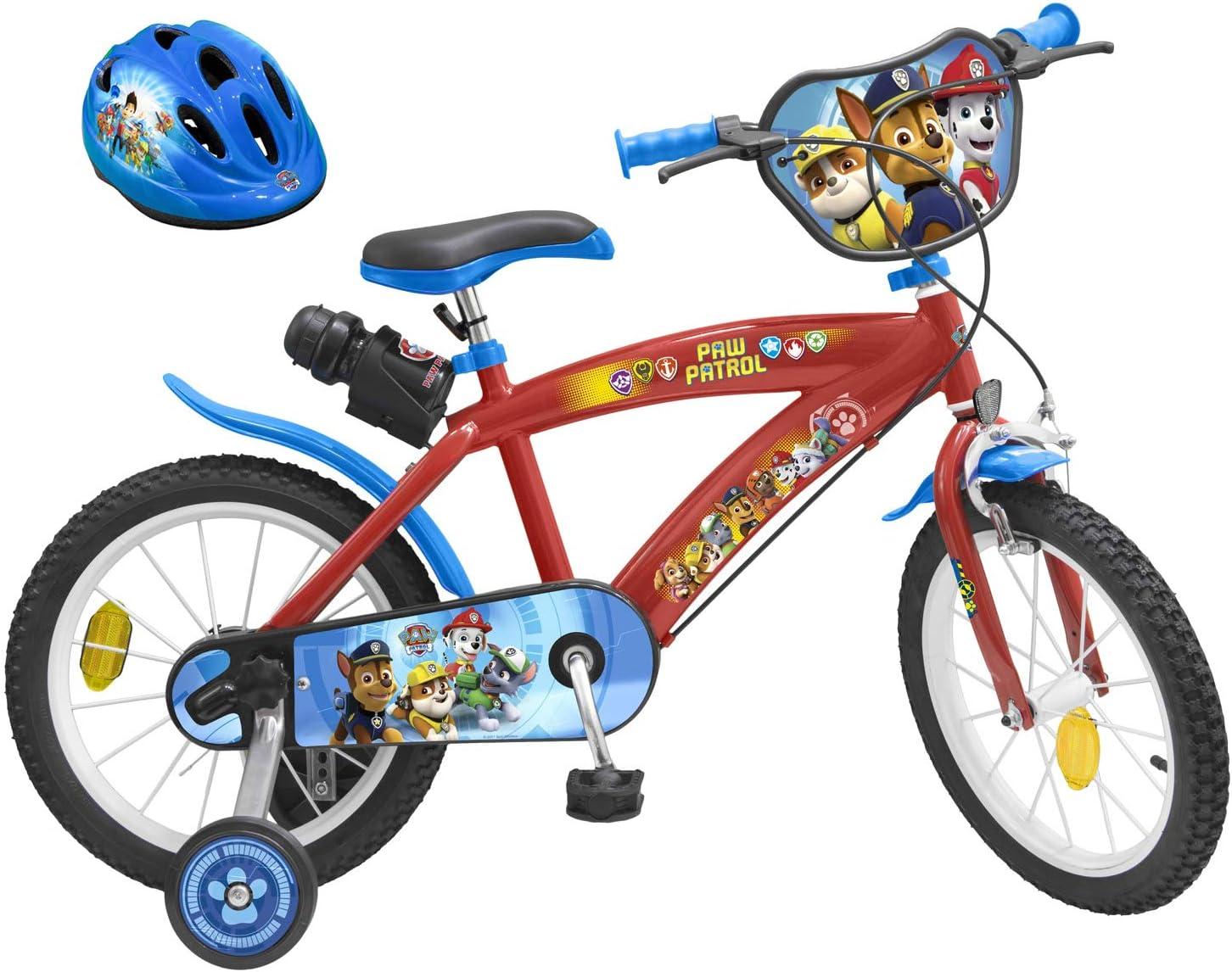 PAW PATROL Kinderfahrrad 16 Zoll 52-56 cm Fahrradhelm Gr Felgenbremse Trommelbremse Trinkflasche
