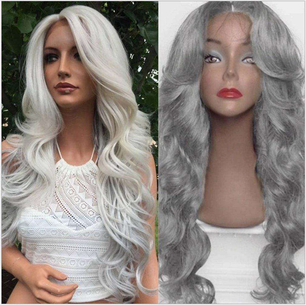 28/'/' Ladies Black Long Curly Hair Wig Wavy Cosplay Christmas Hairstyle Hairnet