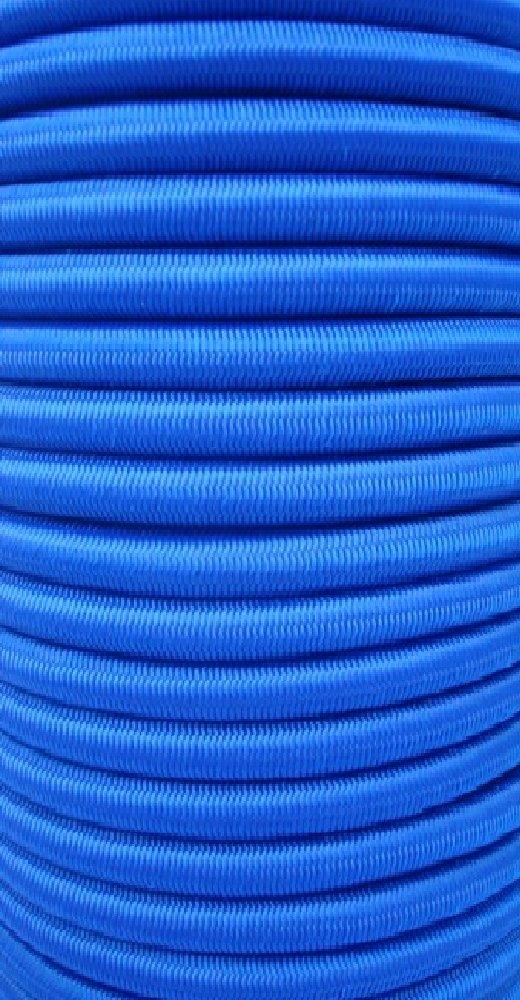 8mm Expanderseil 10m blau Gummiseil Planenseil Spannseil elast Seil Plane