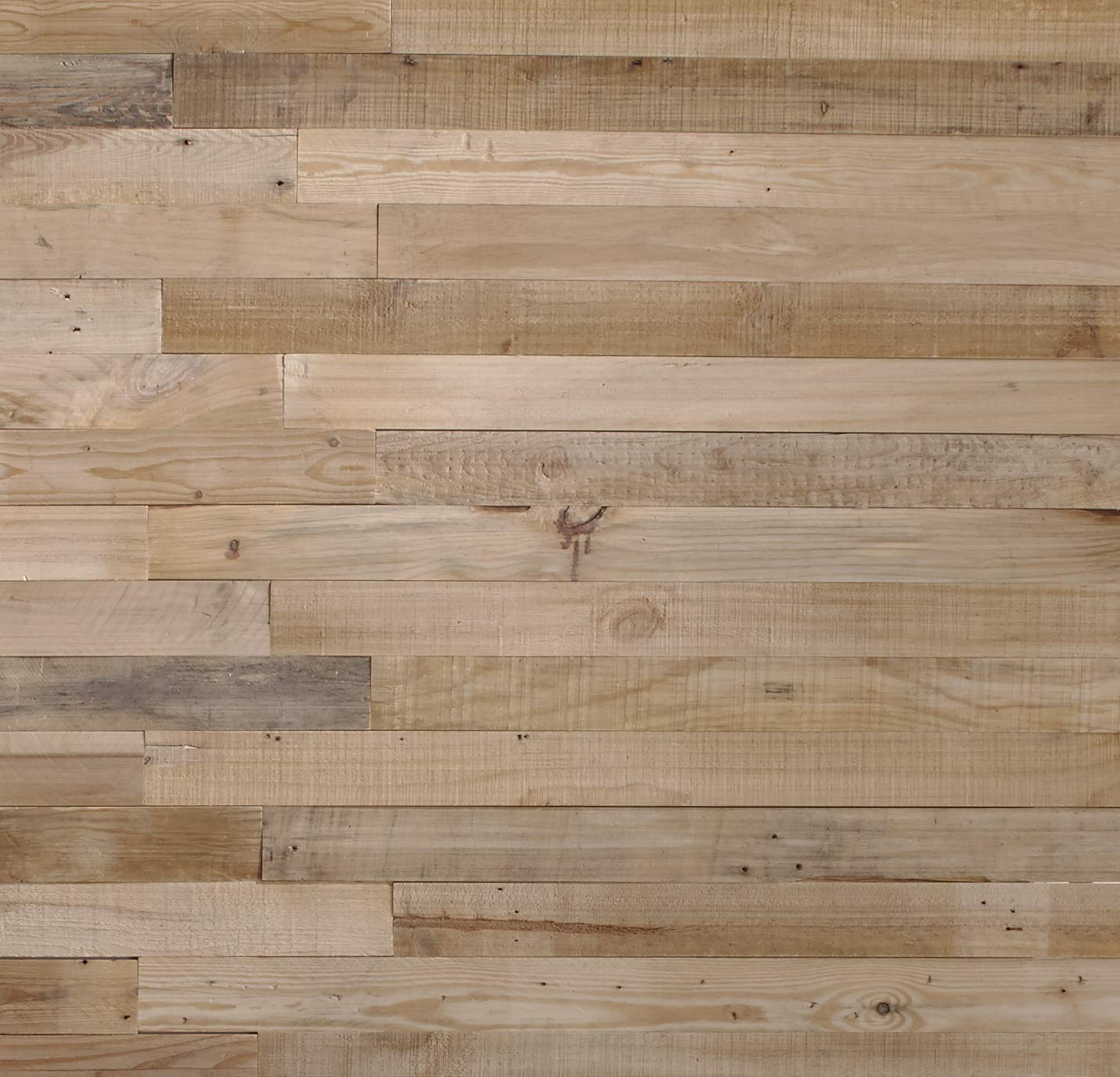 Timberwall - Reclaimed Collection - Planks - DIY Wood Wall Panels - Solid Wood Planks - Nails and Staples Application - 7.9 Sq Ft