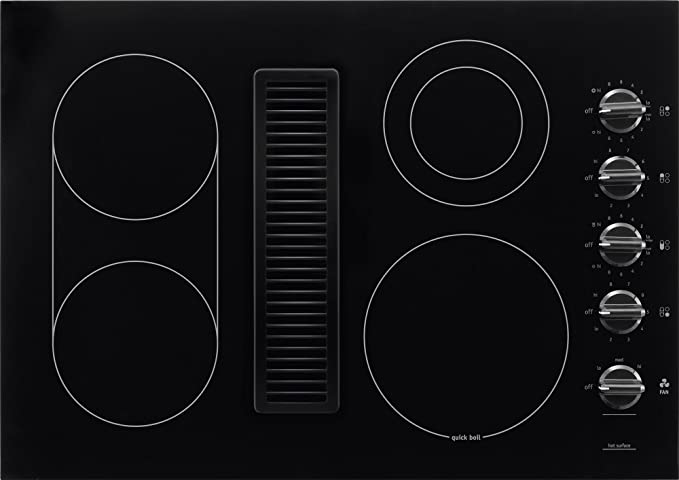 Amazon Com Frigidaire 30 Inch Electric Downdraft Black Ceramic