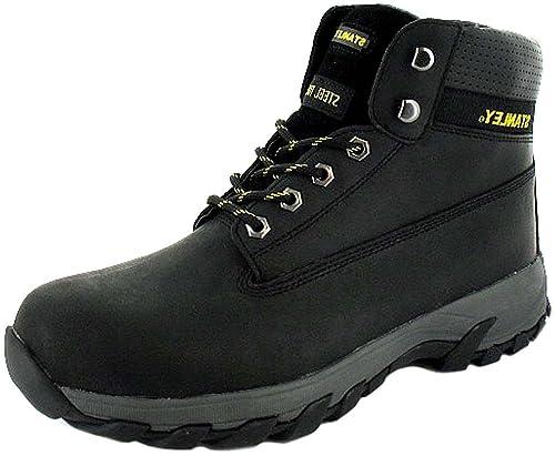 Safety - Calzado de protección de cuero para hombre, color negro, talla 45