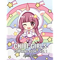 Image for Chibi Girls Coloring Book: For Kids with Cute Lovable Kawaii Characters In Fun Fantasy Anime, Manga Scenes