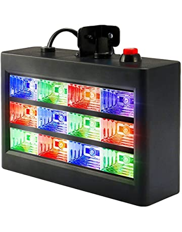 DJ Party Lights, SOLMORE 15W 12 LED Strobe RGB Stage Disco Lights Auto Sound Activated