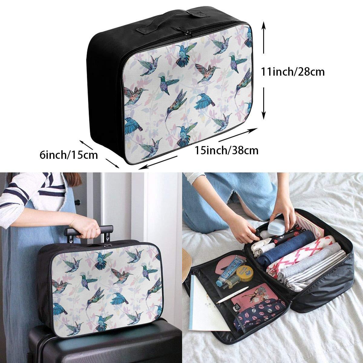 ADGAI Wildlife Inspirations Exotic Flying Creatures Canvas Travel Weekender Bag,Fashion Custom Lightweight Large Capacity Portable Luggage Bag,Suitcase Trolley Bag