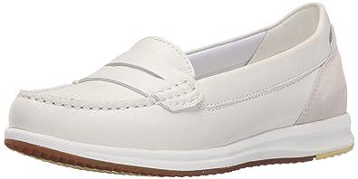 4cdb77af697b37 Geox D Avery C, Mocassins (loafers) femme, Blanc - Weiß (WHITE