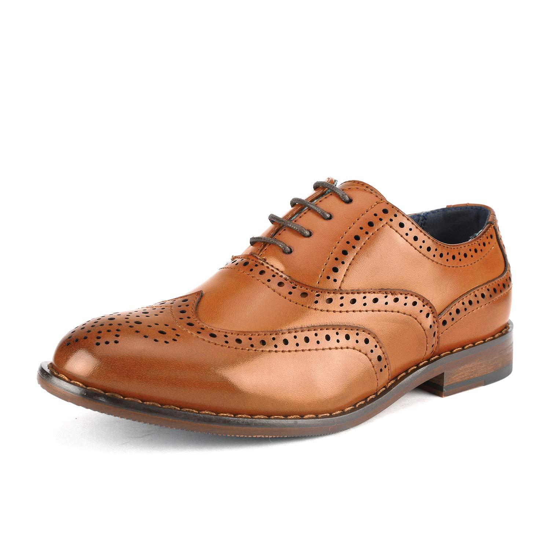 Bruno Marc Little Kid Prince_K_2 Brown Boy's Classic Oxfords Dress Shoes Size 2 M US Little Kid