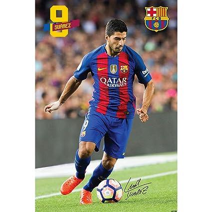 4377812b1c360 F.C. Barcelona Large Poster Suarez 52  Amazon.in  GoalSquadShop