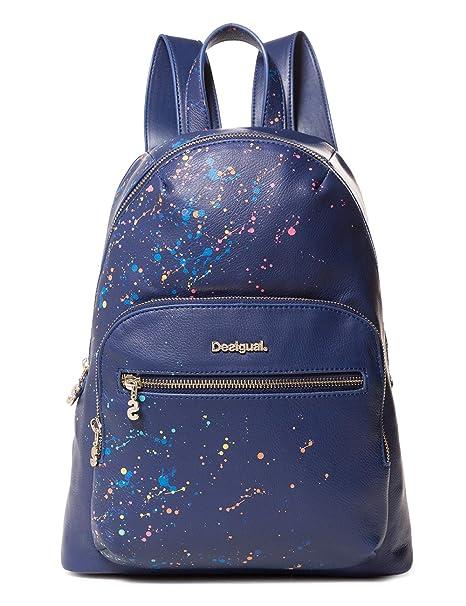 Desigual - Bag Siracusa Lima Women, Bolsos mochila Mujer, Azul (Marino),