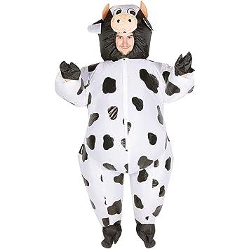 Bodysocks® Disfraz Hinchable de Vaca Adulto