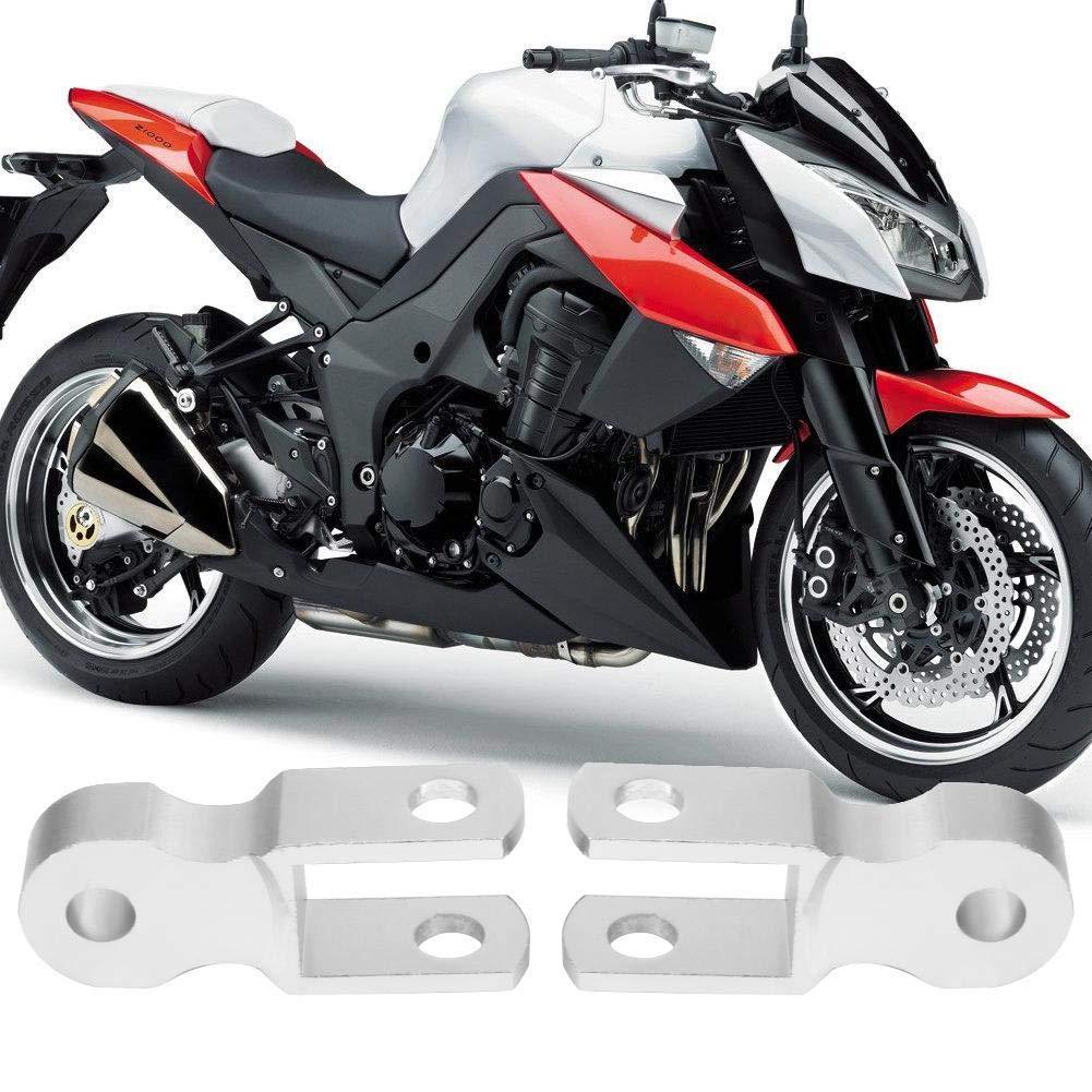 Pas de vis 2pcs Universel moto Amortisseur Arri/ère Riser Hauteur Extension 5cm Ch/âssis Argent par Moto Modification