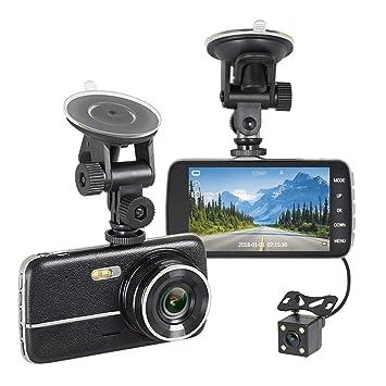 Cámara de salpicadero NEX por FHD 1080P 4 pulgadas LCD Dual cámara de salpicadero frontal y