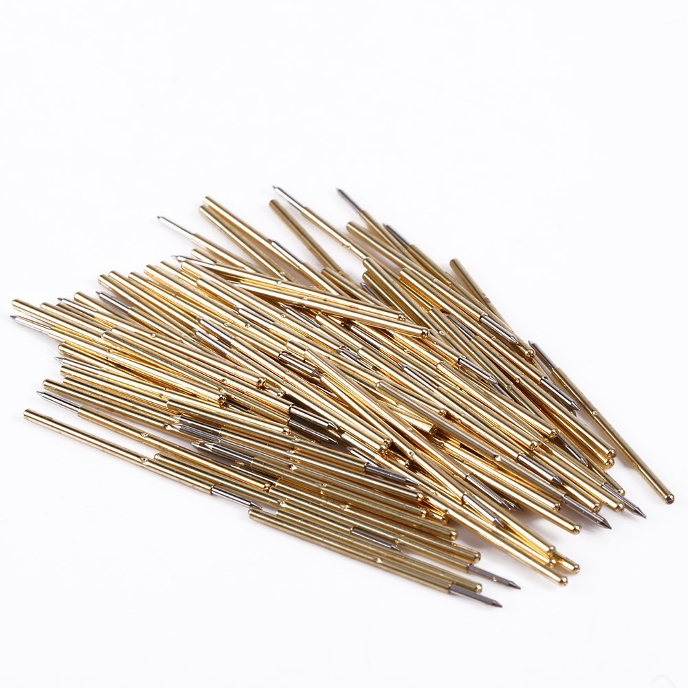 100Pcs P50-B1 Spring Test Probe Pogo Pin Dia 0.5mm Length 16.35mm by Krittapas Intertrade