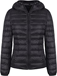 33d59470ef FADTOP Women s Hooded Packable Ultra Light Weight Short Down Jacket Down  Coat