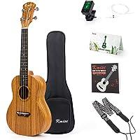 Kmise Concert Ukulele Ukelele Zebrawood 23 inch Kit w/Gig Bag Tuner Strap String