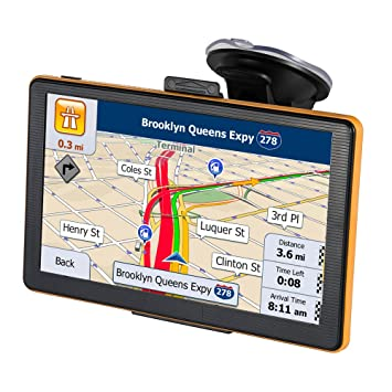 GPS Navigation for Car 7 Inch 8GB Touch Screen GPS Navigation System  Preload 2018 North America Map with Lifetime Free America & EU Maps