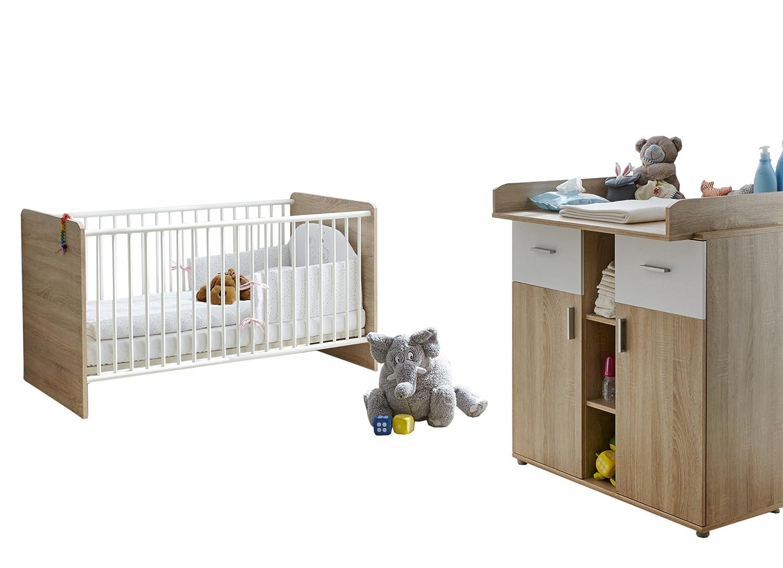 Ticaa Babyzimmer Nico 2 Teilig Sonoma Weiss Gunstig Kaufen
