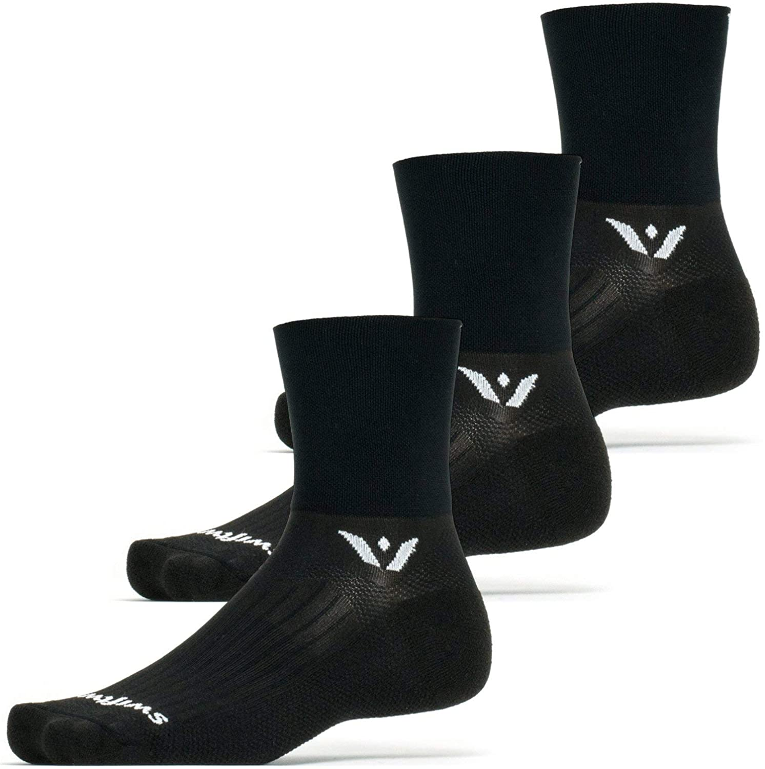 Swiftwick- ASPIRE FOUR (3 Pairs) Cycling & Trail Running Socks, Compression Fit