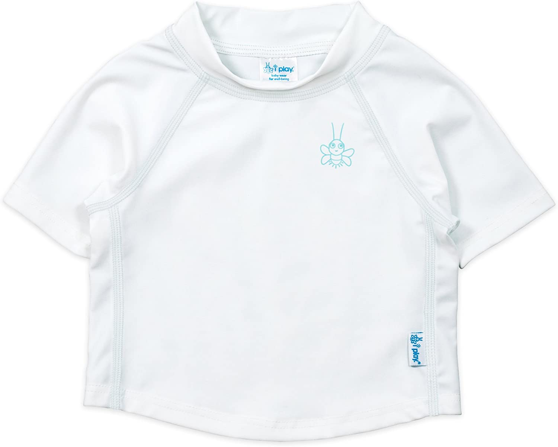 - White Baby//Toddler i play Unisex Baby Rashguard