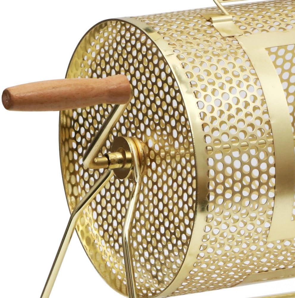 Raffle Ticket Drum Brass Plated Bingo Casino Drawing Spinning Lottery 11/'/' x 8/'/'