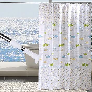 Bathroom Waterproof Anti Mildew Shower CurtainInsulation Curtain Block Hanging Toilet
