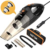 $25 » HOTOR Corded Car Vacuum Cleaner with LED Light, HOTOR DC12-Volt Wet/Dry Portable Handheld…