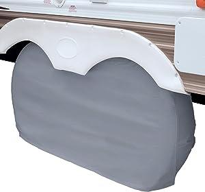 "Classic Accessories - 80-210-051001-00 Over Drive RV Dual Axle Wheel Cover, Wheels 30"" - 33""DIA, Grey, 1-Piece"