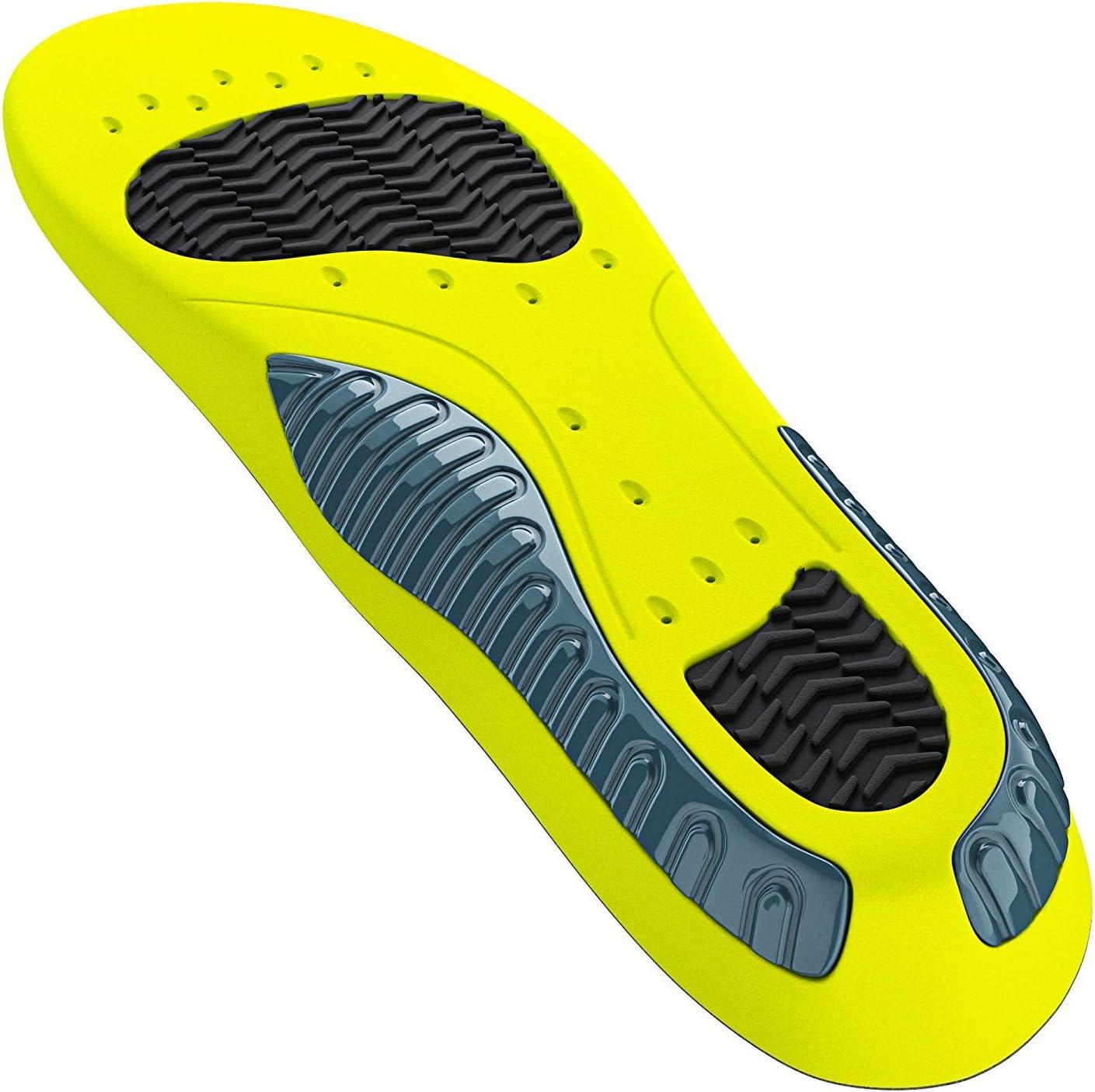 Semelles pour chaussures de sport et de travail I Semelles multi-taille /à d/écouper I Semelles anti-transpiration I Semelle int/érieure pour plus de stabilit/é et absorption des chocs I Inserts pour chaussures pour femme et homme
