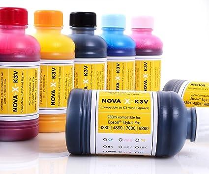 250 Ml nOVA x-k3 v encre pour epson stylus pro 3880///4880 7880 ...