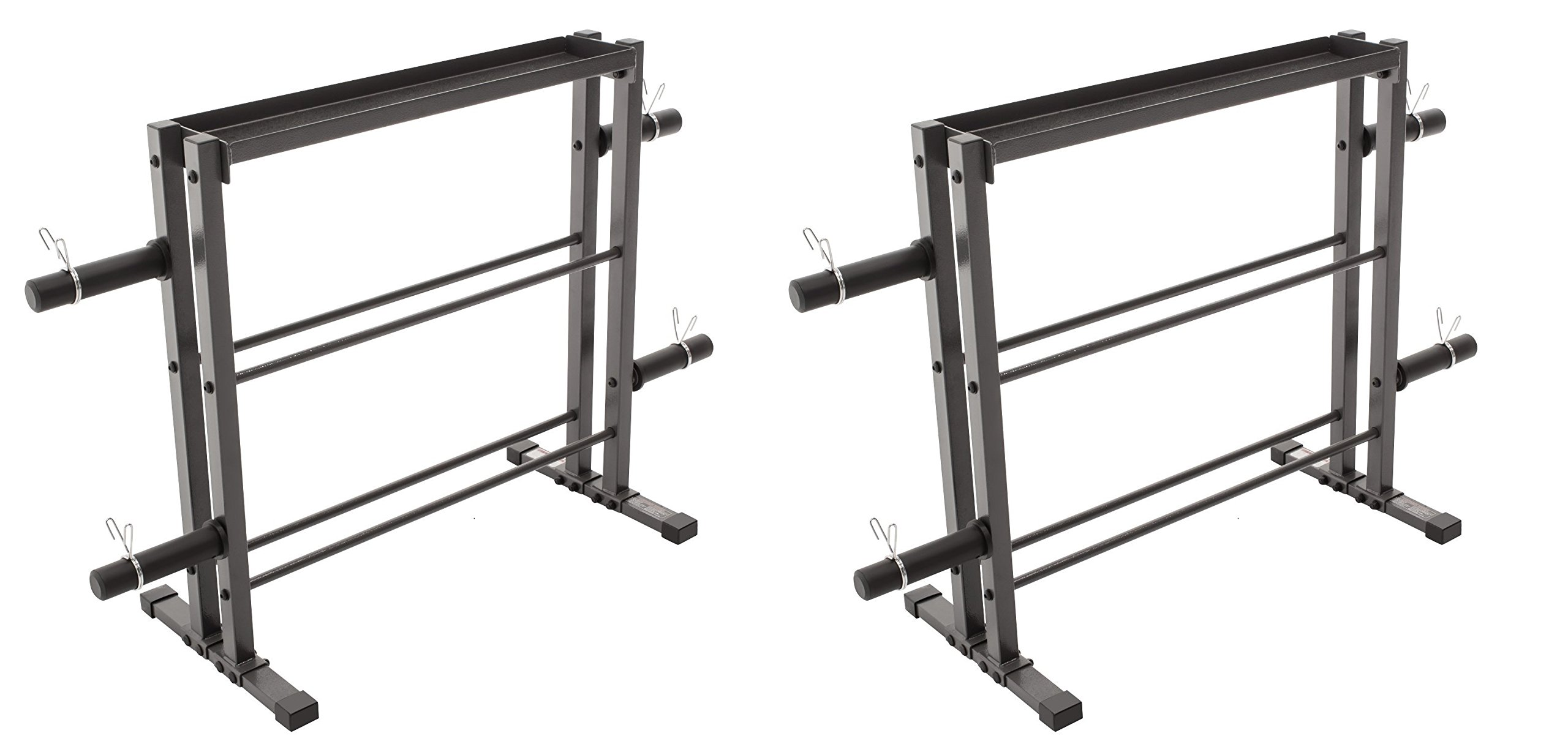 Marcy Combo Weights Storage Rack for Dumbbells, Kettlebells, and Weight Plates DBR-0117 (Pack of 2)