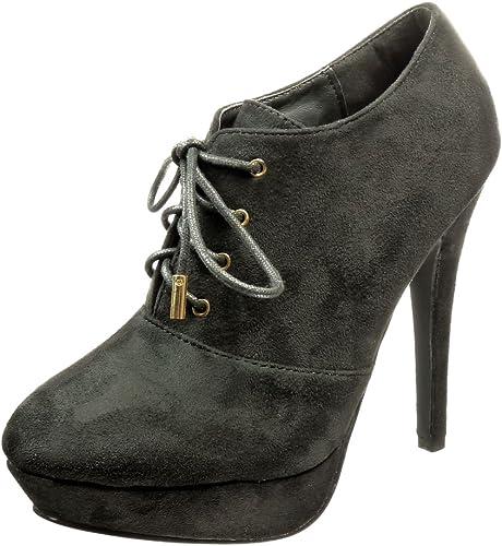 Angkorly Mode Low Boots Stiletto Chaussure Bottine b7y6gYf