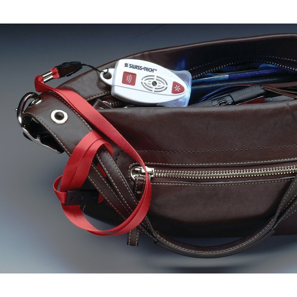 Swiss+Tech Body Gard Handtaschen Alarm Sirene Selbstverteidigung /Überfall Diebstahl Handger/ät Taschenalarm Knopf Taschenlampe