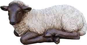 """Your Heart's Delight 14"""" x 7.5"""" x 7.5"""" Resting Sheep Polyresin Figurine"""