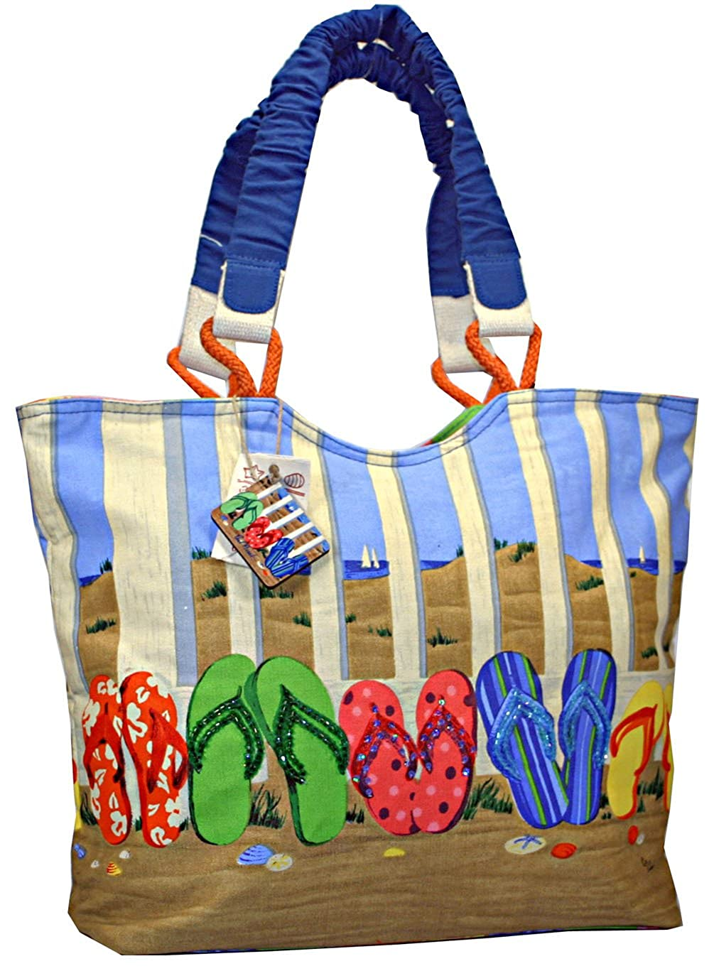 9abf2dcfd Flip flops in sand womens large beach tote bag clothing jpg 1005x1367 Flip  flop bags