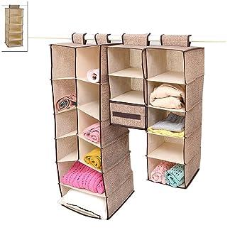 szjsl Home para colgar ropa caja de almacenaje (5 estanterías) Friendly armario organizador,