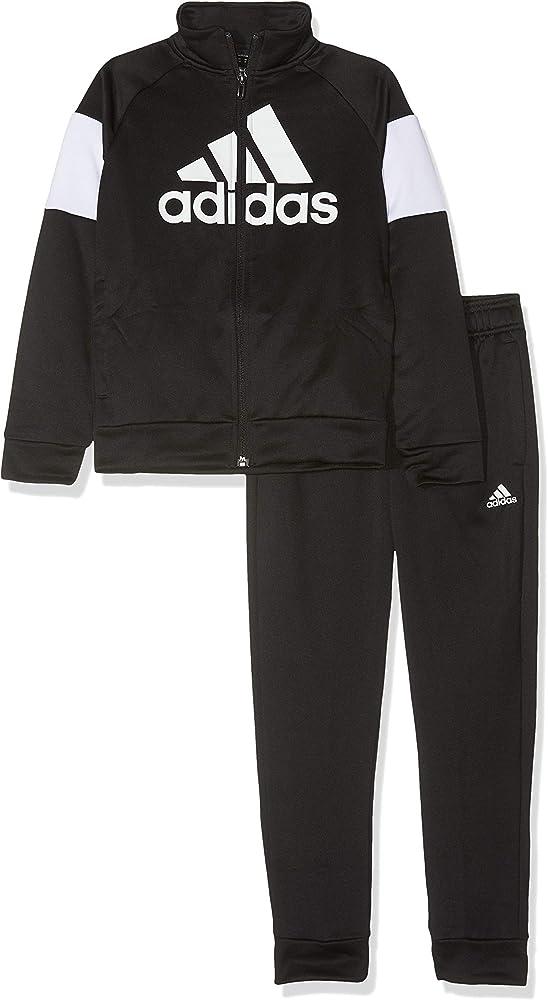 adidas Yb TS Bos Chándal, Niños, Top:Black/White Bottom:Black ...