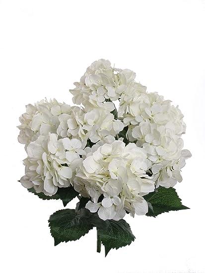 Amazon larksilk hydrangea artificial flower 22 white home larksilk hydrangea artificial flower 22quot white mightylinksfo