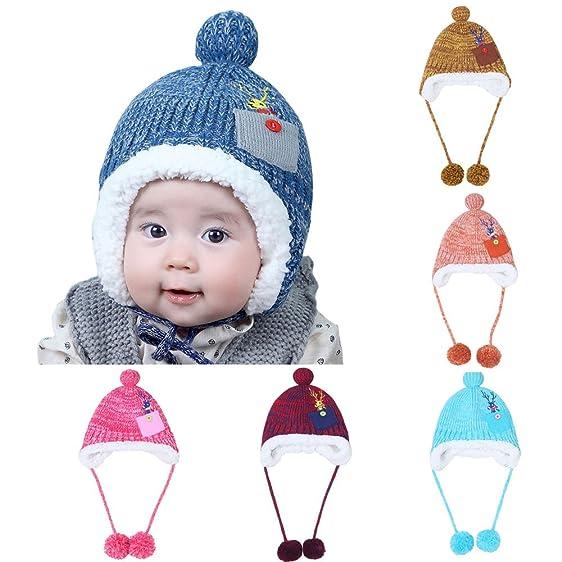 Amazon Baby Winter Warm Knit Hat Earflap Beanie Hat Mlvictor