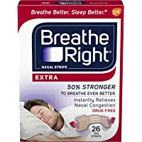 Breathe Right Extra Tan Drug-Free Nasal Strips for Nasal Congestion Relief 26 count