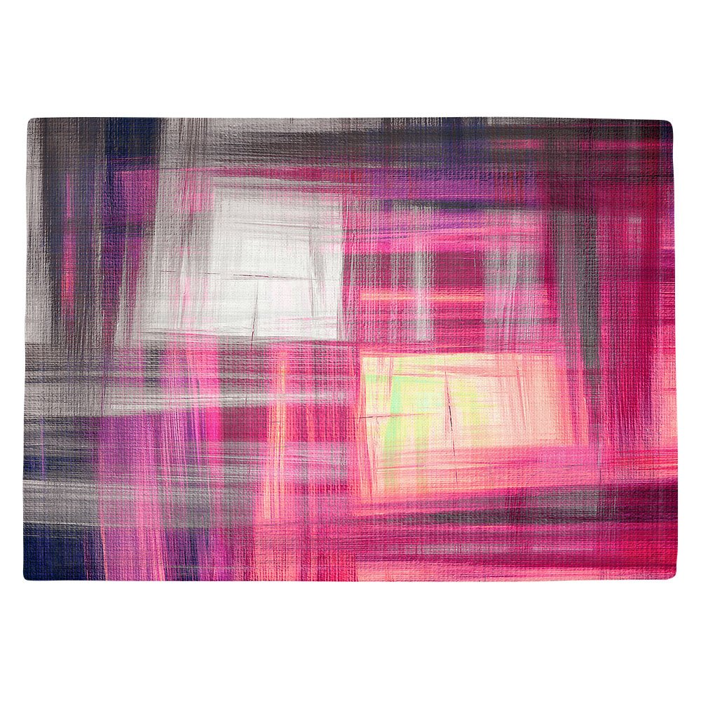 DIANOCHEキッチンPlaceマットby Artist Julia Di Sano – Tartan Crosshatchマゼンタ Set of 2 Placemats PM-JuliaDiSanoTartanCrosshatchMag1 Set of 2 Placemats  B01N8OYPQW