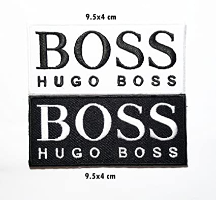 heiße neue Produkte abholen retro 2 pieces Hugo Boss Logo Sponsor Racing Band Logo Patch Sew Iron on  Embroidered Badge Sign Costume Gift