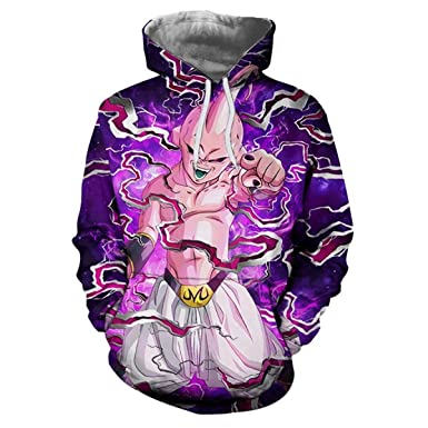 FLAMINGO_STORE Anime Hoodies Gohan Hooded Sweatshirts Goku 3D Hoodies Pullovers Men Hoodie at Amazon Mens Clothing store: