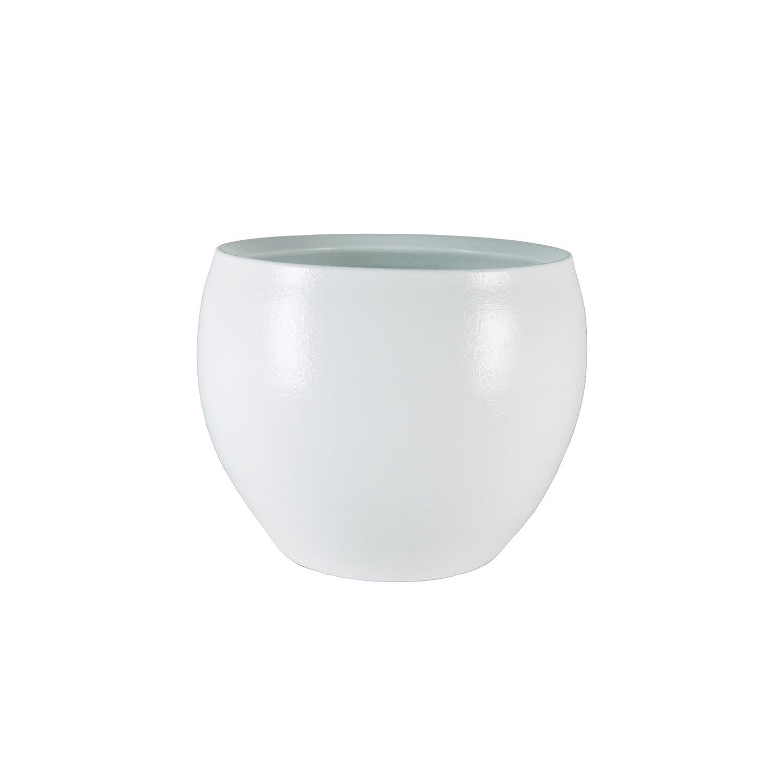 Diametro 14 cm Colore: Bianco TS Indoor Vaso per Fiori in Ceramica