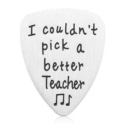 teacher appreciation gift idea stainless steel i couldnt pick a better teacher guitar