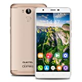 OUKITEL U15 Pro 5.5 inch 4G Android 6.0 MT6753 Octa Core 3G RAM+32G ROM Smartphone IPS HD Screen Dual SIM Metal Cover Mobile Phone Fingerprint HotKnot OTG Cellphone GPS (Gold)