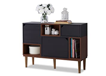 Amazing Baxton Furniture Studios Anderson Mid Century Retro Modern Oak And Wood  Sideboard Storage, Espresso