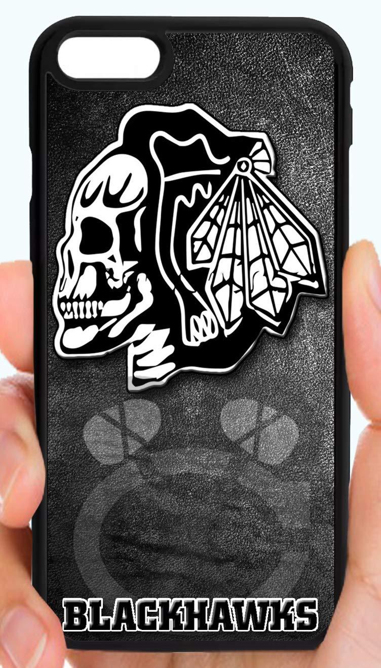 premium selection 8f19a c5618 Amazon.com: Blackhawks Skull Logo Blackout Hockey Phone Case ...