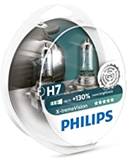 Philips 12972XV+S2 X-tremeVision Car Headlight Bulb, H7 12V, 55W Halogen, 2-Pack [Packaging type S2]